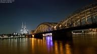 Photo: Kölner Dom and Hohenzollernbrücke at night
