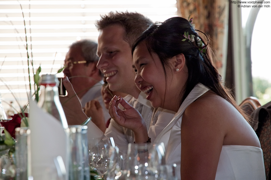 Wedding/Marriage: Bridal Couple laughing