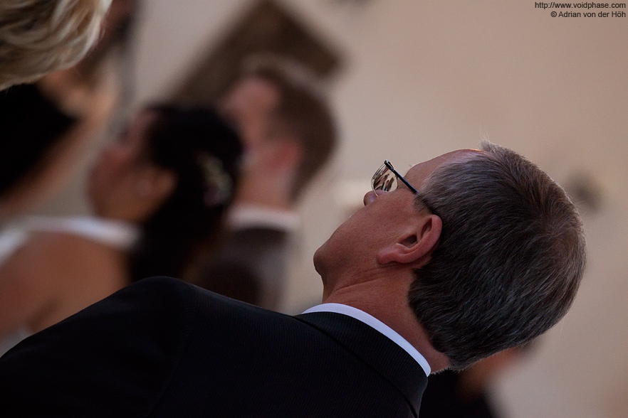 Wedding/Marriage: Ceremony in Church, Generations (reflection, bokeh)