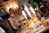 Wedding Photography: Wedding Cake (Icebomb) with Sparklers