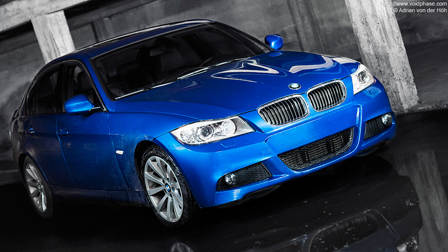 blue BMW 3 Series (330d, Sport Edition, Front)