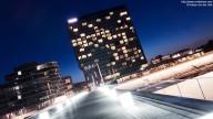 Photo: Düsseldorfer Medienhafen (Hyatt-Hotel) at night