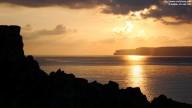 Sundown on Malta (Paradise Bay, Cliffs of Gozo)
